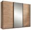Schwebetürenschrank Orlando 270 cm Eiche/spiegel - Eichefarben/Bronzefarben, MODERN, Glas/Holzwerkstoff (270/210/60cm)