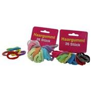 Haargummis 26 Tlg. - Multicolor, KONVENTIONELL, Textil (12/10/4cm)