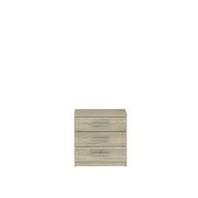 Nachtkästchen Gloria B: 45 cm - Sonoma Eiche, Basics, Holzwerkstoff/Kunststoff (45.2/45.9/35.1cm)