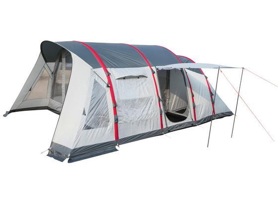 Tunnelzelt Sierra Ridge Air X6 für 6p 640x390x225cm 68079 - Dunkelgrau/Rot, MODERN, Kunststoff/Textil (640/390/225cm) - Bestway