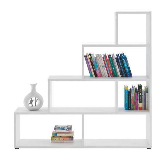 Regál Vico 3 - bílá, Moderní, dřevěný materiál (148/148/33cm)