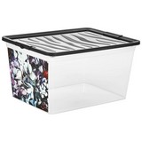 Aufbewahrungsbox Romantic Rose - Multicolor, KONVENTIONELL, Kunststoff (38,4/19,9/28,3cm)