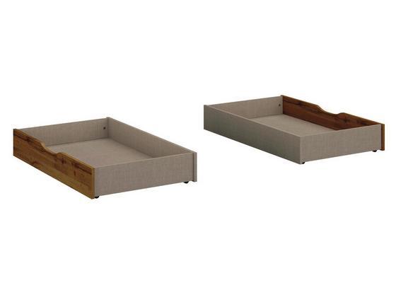 Bettkasten Borneo B: 59 cm Eichefarben - Basics, Holzwerkstoff/Kunststoff (59/16/108cm)