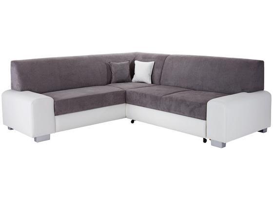Sedacia Súprava Miami - sivá/biela, Basics, drevo/textil (210/260cm) - Ombra