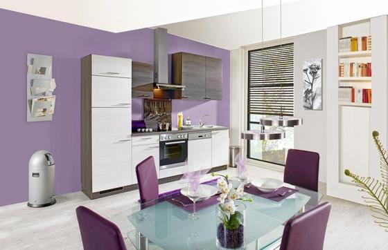 Küchenblock Plan ohne Gsp. 280 cm Weiß/Grau - Weiß/Grau, LIFESTYLE, Holzwerkstoff (280cm) - Express