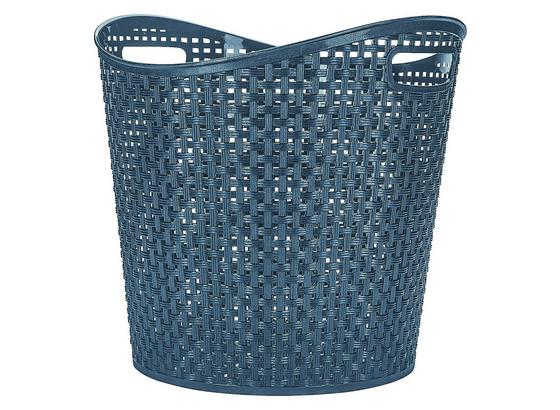 Universalkorb Rattan 27 Liter - Blau, KONVENTIONELL, Kunststoff (38,5/37cm) - Plast 1