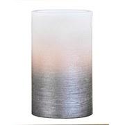 LED-kerze Star - Silberfarben/Weiß, KONVENTIONELL, Naturmaterialien/Kunststoff (7,5/12,5cm) - Luca Bessoni