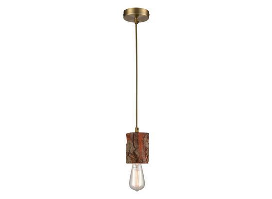Šnúrová Koncovka Forest - hnedá, Romantický / Vidiecky, drevo (120cm) - Modern Living