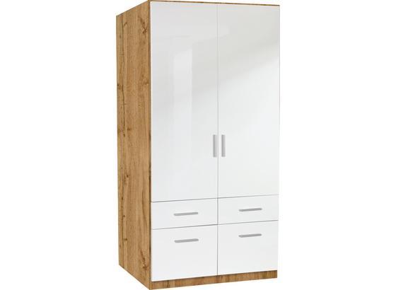 ŠATNÁ SKRIŇA Celle, 2-türig - farby dubu/biela, Moderný, drevo (91/197/54cm)