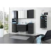 Waschtisch Cardiff B: 60 cm Hglz Grau - Graphitfarben/Weiß, Design, Holzwerkstoff/Stein (60/56/47cm)