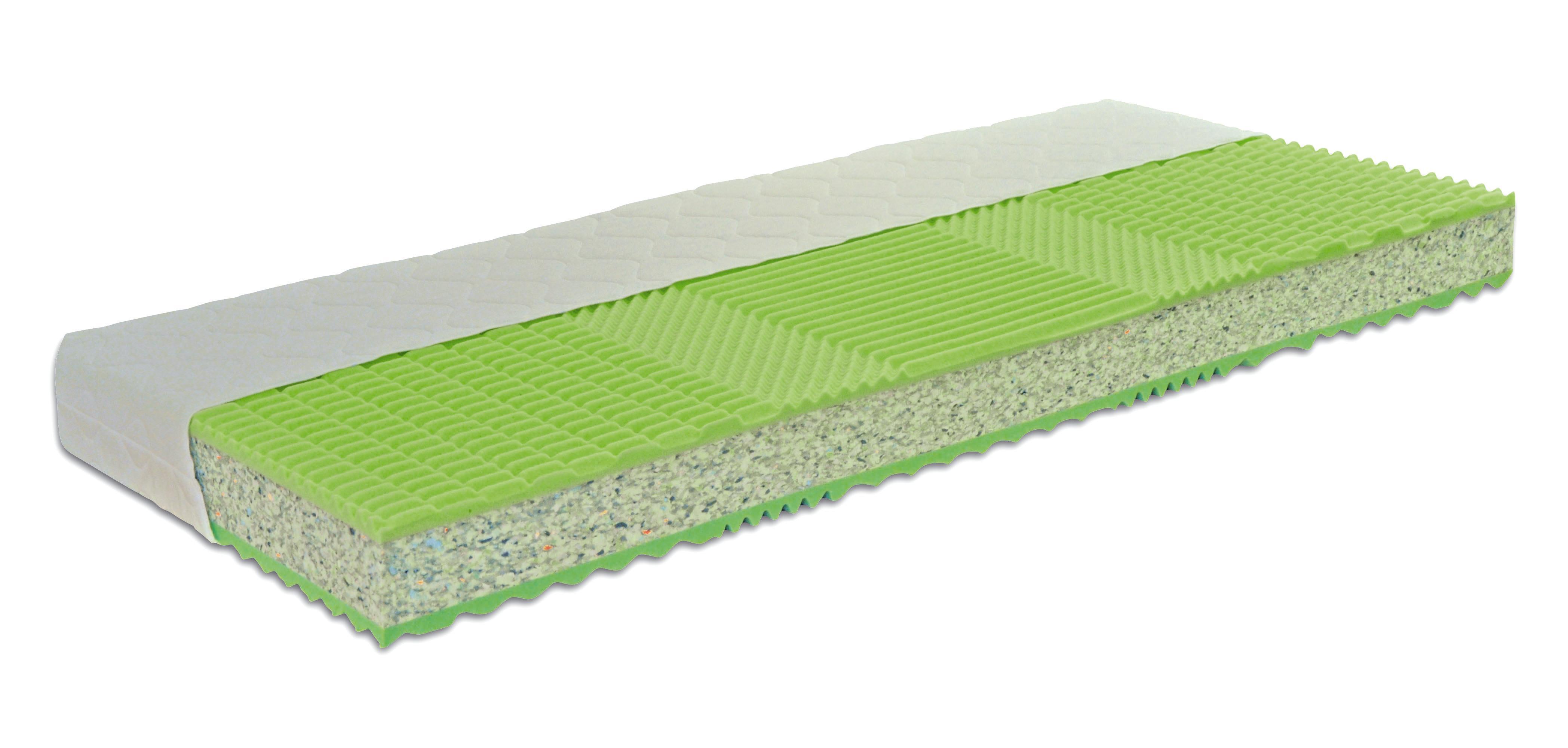 Matrace Viva 1 H3 200x140cm - světle zelená, Konvenční, textil (200/140/18cm)
