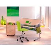 Drehstuhl Mali mit Rollen Netzbezug Grün - Chromfarben/Grün, Basics, Kunststoff/Textil (40/83-93/48cm) - MID.YOU