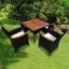 Rattansessel Valencia B: 61 cm Schwarz - Beige/Schwarz, Basics, Holz/Kunststoff (61/86/62cm) - Ambia Garden