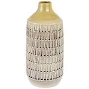Vase Calixtus - Gelb/Braun, Trend, Keramik (14,5/33cm) - Luca Bessoni