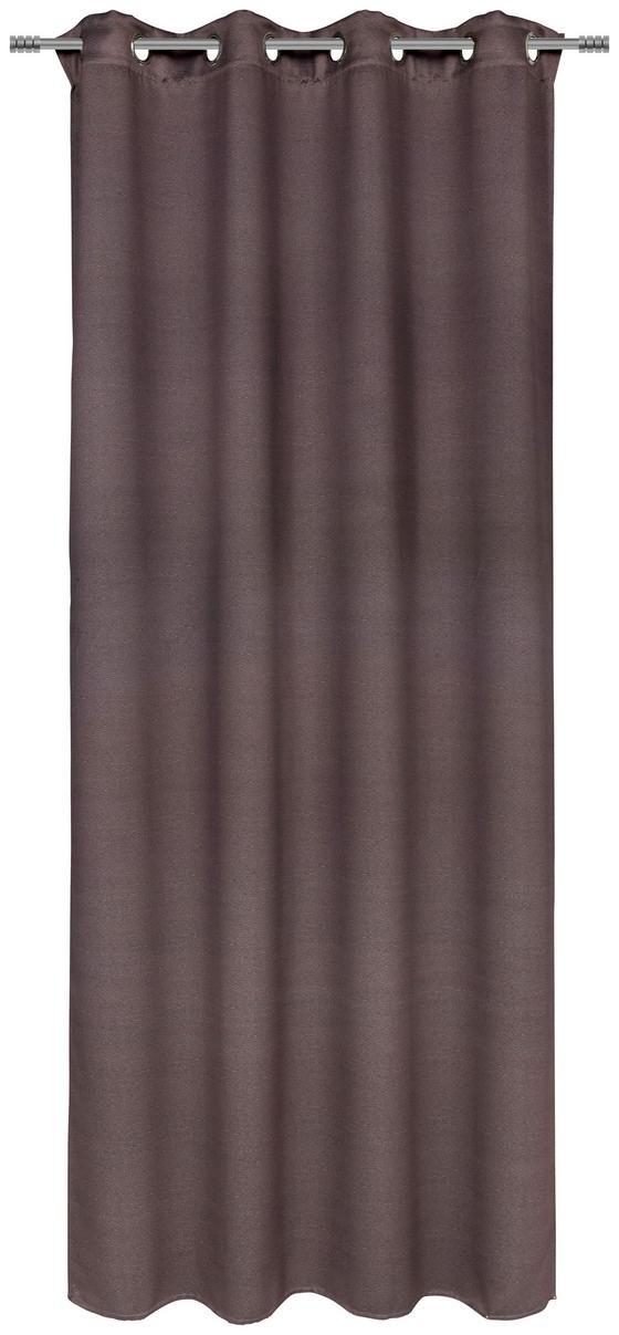 Ösenvorhang Carmen - Grau, ROMANTIK / LANDHAUS, Textil (140/245cm) - James Wood