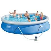 Bestway Schwimmbecken Fast Set Pool 57313 - Blau/Weiß, Kunststoff (457/84cm) - Bestway