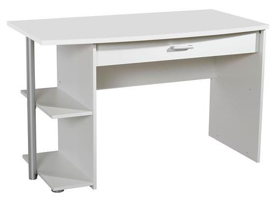 Jugend-schreibtisch Point 120 cm Weiß - Weiß, MODERN, Holzwerkstoff (120/75/64cm)