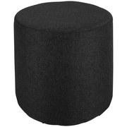Taburet Leo *cenový Trhák* - čierna/svetlosivá, Moderný, drevo/textil (33/33/33cm)
