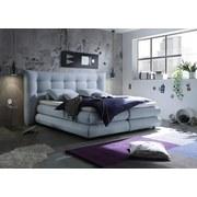 Boxspringbett Milford 2 ca. 180x200 cm - Hellblau, KONVENTIONELL, Holzwerkstoff/Textil (180/200cm) - Carryhome