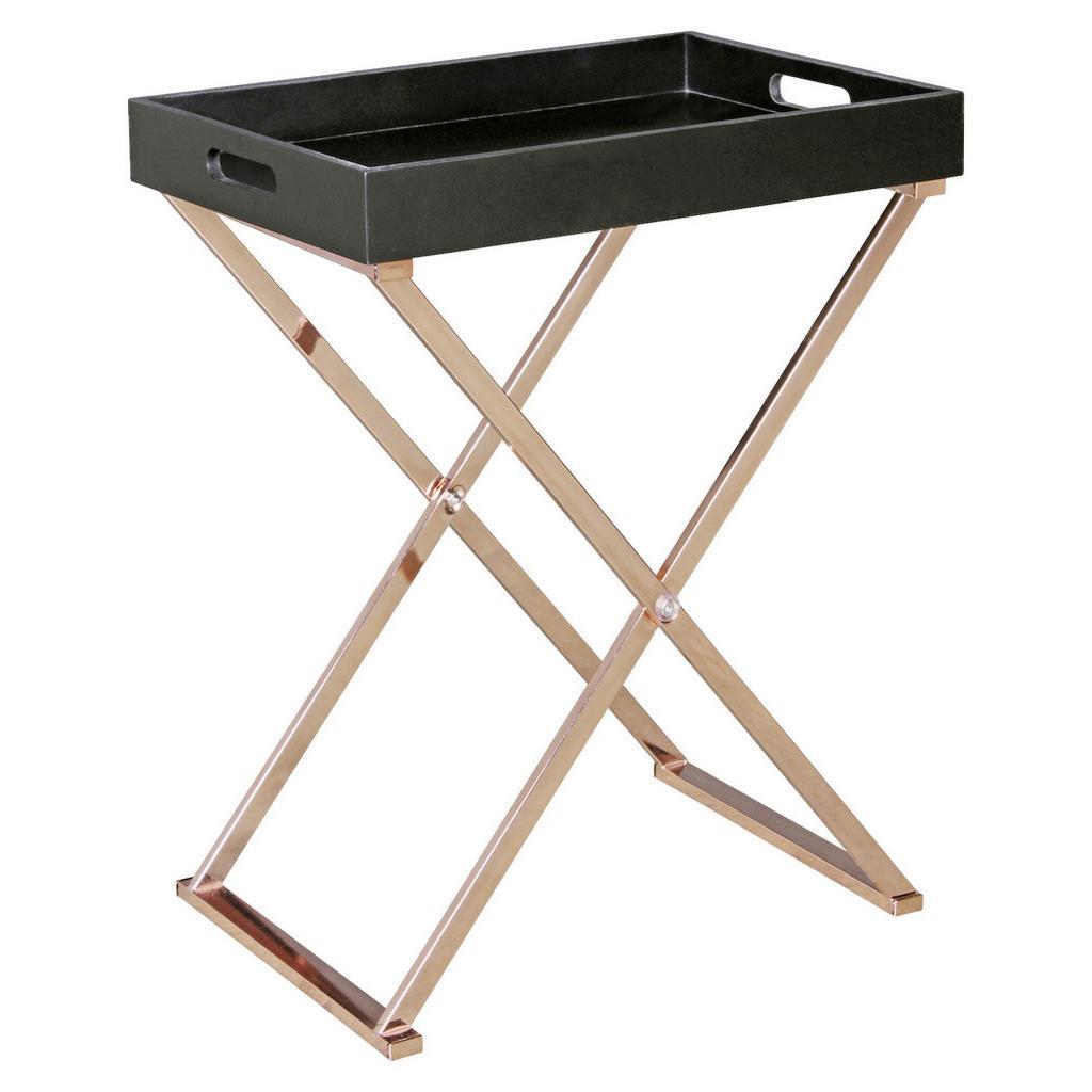 Príručný stolík Wl5.244 Čierny/medený