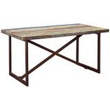 Esstisch Colori B: 160 cm Mehrfarbig - Blau/Rostfarben, Basics, Holz/Metall (160/90/76cm) - MID.YOU