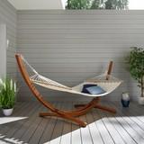 Hojdacia Sieť Ciara - hnedá/béžová, Moderný, drevo/textil (316/120/120cm) - Mömax modern living