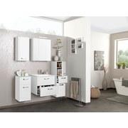 Waschtischkombi mit Soft-Close Phönix B: 80 cm Weiß - Weiß, MODERN, Holzwerkstoff/Kunststoff (80/54/48cm)