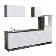 Küchenleerblock Cardiff B: 270cm Weiß/Vintage - Eichefarben/Weiß, Basics, Holzwerkstoff (270cm) - MID.YOU