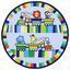 Kinderteppich Lionel Ø 80 cm - Blau, Textil (80cm) - Luca Bessoni