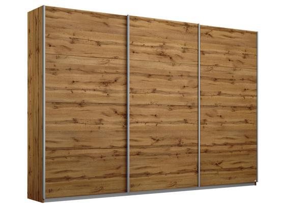 Schwebetürenschrank 271cm Belluno, Wotan Eiche Dekor - Eichefarben, MODERN, Holzwerkstoff (271/210/62cm)