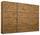 Schwebetürenschrank Belluno 271 cm Eichefarben - Eichefarben, MODERN, Holzwerkstoff (271/210/62cm)