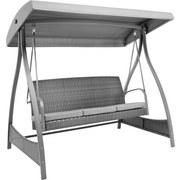 Houpačka Elisa - tmavě šedá/světle šedá, Moderní, kov/textilie (198 175 122cm) - Modern Living