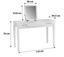 Kosmetický Stůl Jasmin - bílá, Moderní, dřevěný materiál/sklo (110/76/44,50cm)