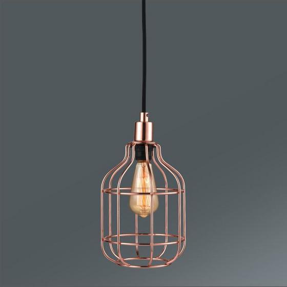 Závesná Lampa Skeletton - farby medi, Štýlový, kov (14/14/110cm) - Mömax modern living