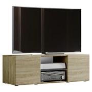 TV-Lowboard Lowina B: 115 cm Sonoma Eiche - Schwarz/Sonoma Eiche, KONVENTIONELL, Holzwerkstoff (115/40/36cm) - MID.YOU