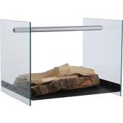 Holzlege Aike - Transparent/Schwarz, Glas/Metall (42/33/32cm)
