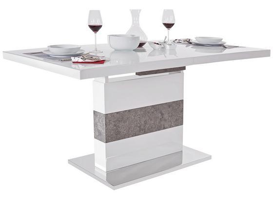 Výsuvný Stôl Ralf Ii - sivá/biela, Moderný, kov/kompozitné drevo (160-200/76/90cm) - Luca Bessoni