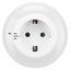 Nachtlicht Durchgangsstecker 6000.618 - Weiß, MODERN, Kunststoff (8/4/11cm)