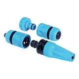 Schlauchkupplung Set 1/2', 4tlg. - Blau/Schwarz, MODERN, Kunststoff (10,5cm)