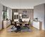 Komoda Sideboard Toronto - bílá/barvy dubu, Moderní, kompozitní dřevo/sklo (140/85/42,2cm) - Ombra