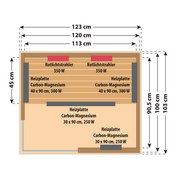 Infrarot Wärmekabine Trendy B/H/T: 123/190/103cm - Naturfarben, Holz (123/190/103cm)