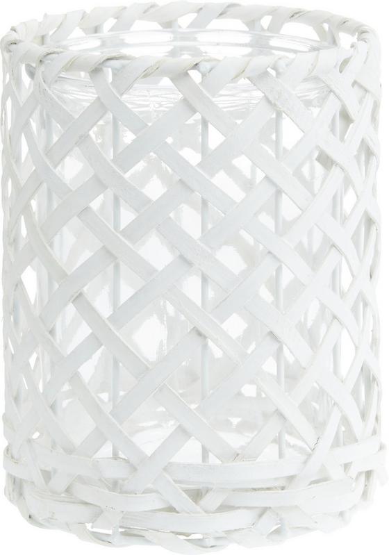 Svíčka Ve Skle Antonia - bílá, Romantický / Rustikální, dřevo/sklo (14,5/19cm) - Mömax modern living