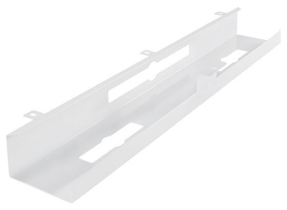 Kabelkanal B: ca. 80 cm Weiß - Weiß, Basics, Metall (80/7/13cm) - Livetastic