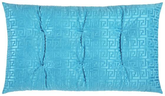 Bodenkissen Mäander - Türkis, MODERN, Textil (65/100cm) - Luca Bessoni