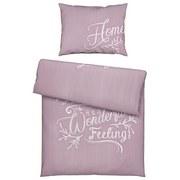 Povlečení Home Letters - růžová, Konvenční, textil (140/200cm) - Mömax modern living