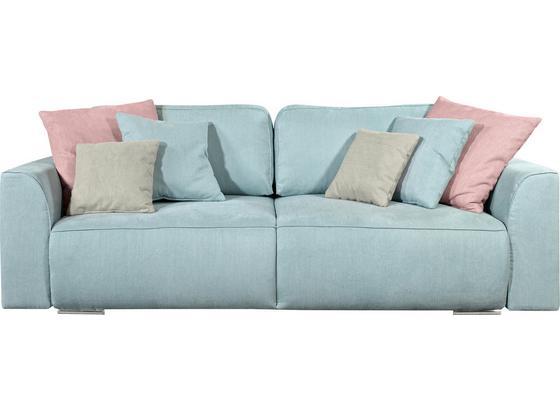 Schlafsofa Lazy 3Dl B: 250 cm - Pink/Hellgrau, Design, Holzwerkstoff/Textil (250/87/129cm) - Carryhome