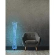 Led Stehlampe Silber mit Farbwechsler und Lautsprecher - Silberfarben, MODERN, Metall (27/143cm)