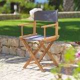 Zahradní Židle Lucas - šedá/barva teak, Moderní, kov/dřevo (54/83/40cm) - MODERN LIVING