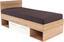 Ágykeret Box - Tölgyfa/Zöld, modern, Faalapú anyag (207/95/86cm)