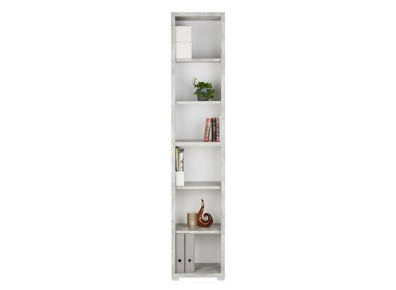 Regál Line4 - sivá/biela, Moderný, kompozitné drevo (44/218/36cm)